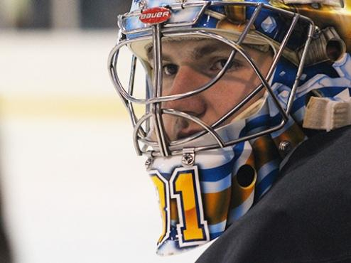 Former Runner Goalie Attends St. Louis Blues Prospect Camp